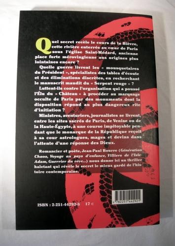 jean-paul bourre,l'élu du serpent rouge,ésotérisme,occultisme,mystère,mystères,polars,politique,complot,aventure